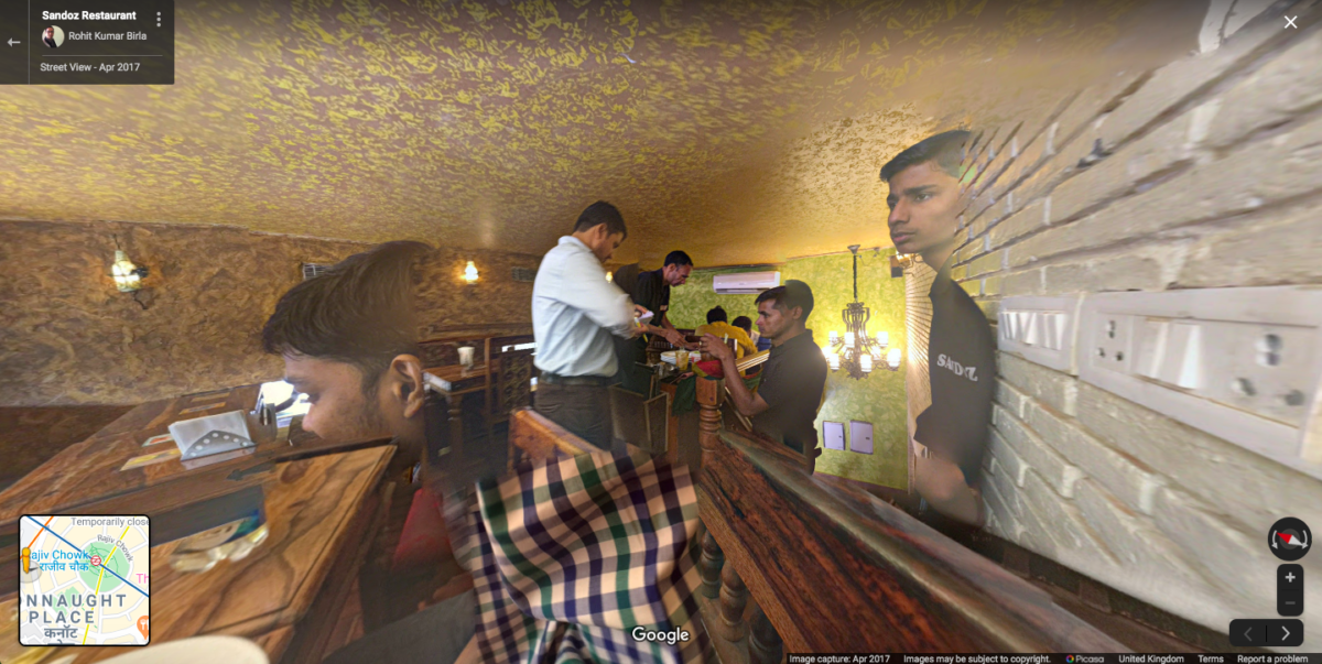 Phantasmal forms in a New Delhi restaurant