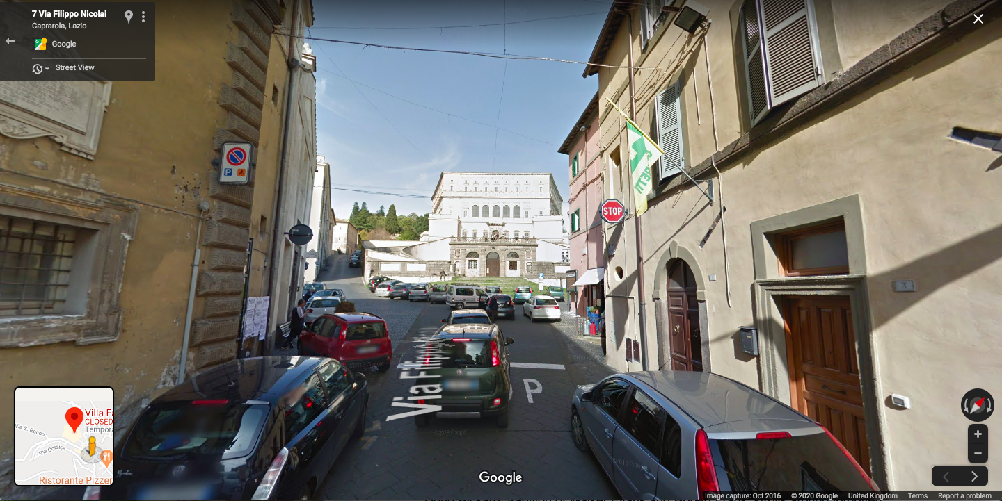 Searching for the Villa Farnese in central Italy