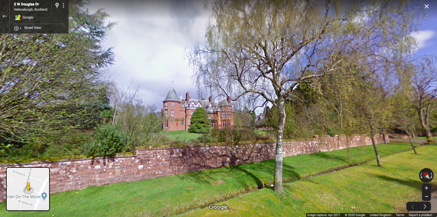 Spying on a mansion in Helensburgh, Scotland
