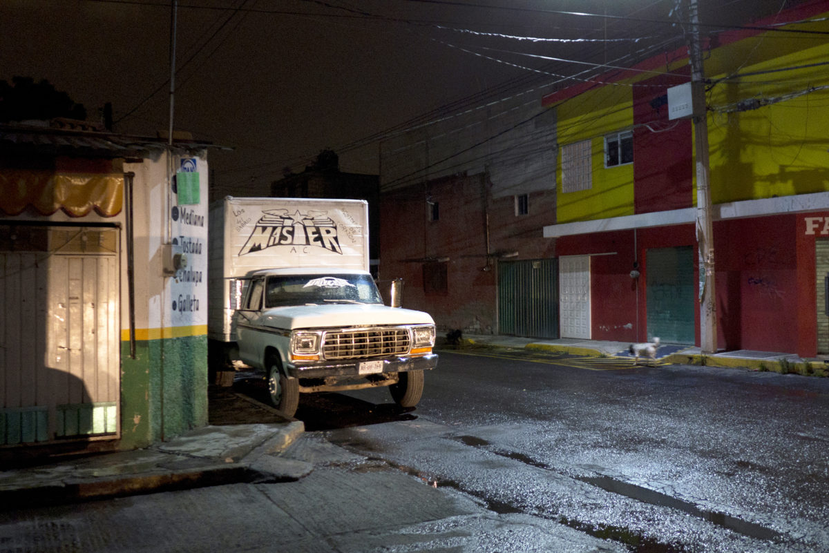 The first sound system truck of Sonido Master, Puebla Mexico, 2015, from the book Ojos Suaves_Soft Eyes, by Mirjam Wirz