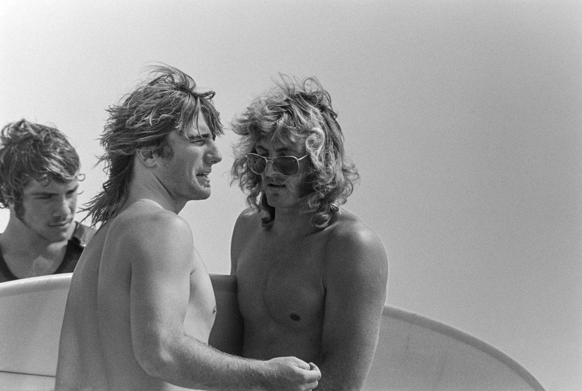 Allen Sarlo, Glen Kennedy, John Thornton, Malibu, CA 1971. Photo © Jeff Divine