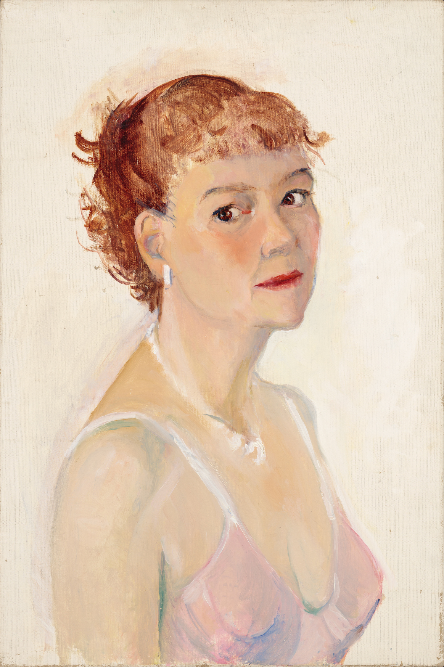 Josephine Verstille (Nivison) Hopper, Untitled (Self-portrait). Courtesy PAAM, gift of Laurence C and J Anton Schiffenhaus in memory of Mary Schiffenhaus, and two anonymous donors, 2016