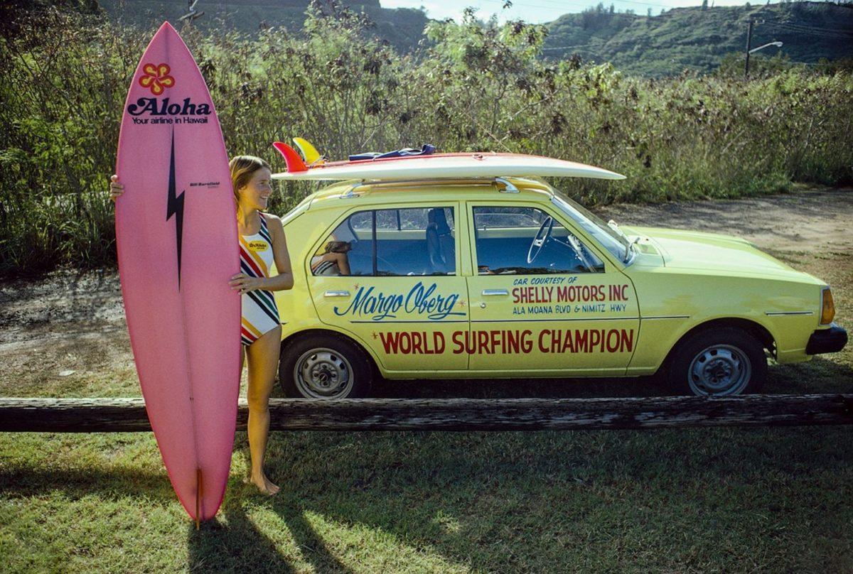 Margo Godfrey Oberg, Sunset Beach, Oahu, Hawaii 1977 – Photo c Jeff Divine