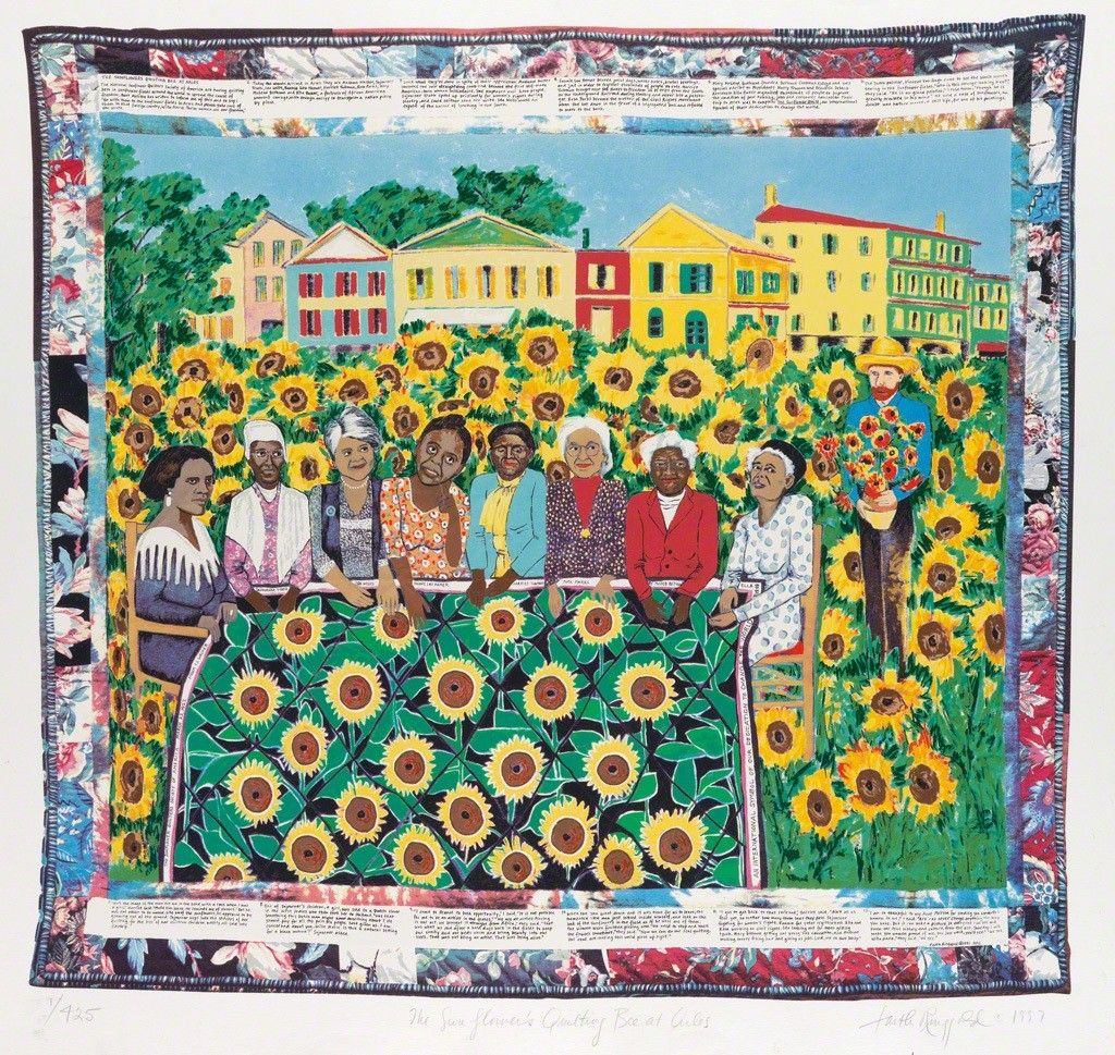 Faith Ringgold, The Sunflower Quilting Bee at Arles 103/425, 1997