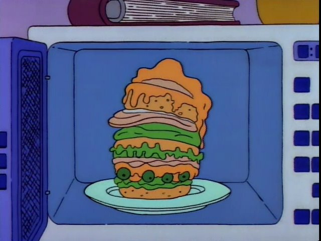 Screenshot from The Simpsons, 35 Calorie Rice Cake