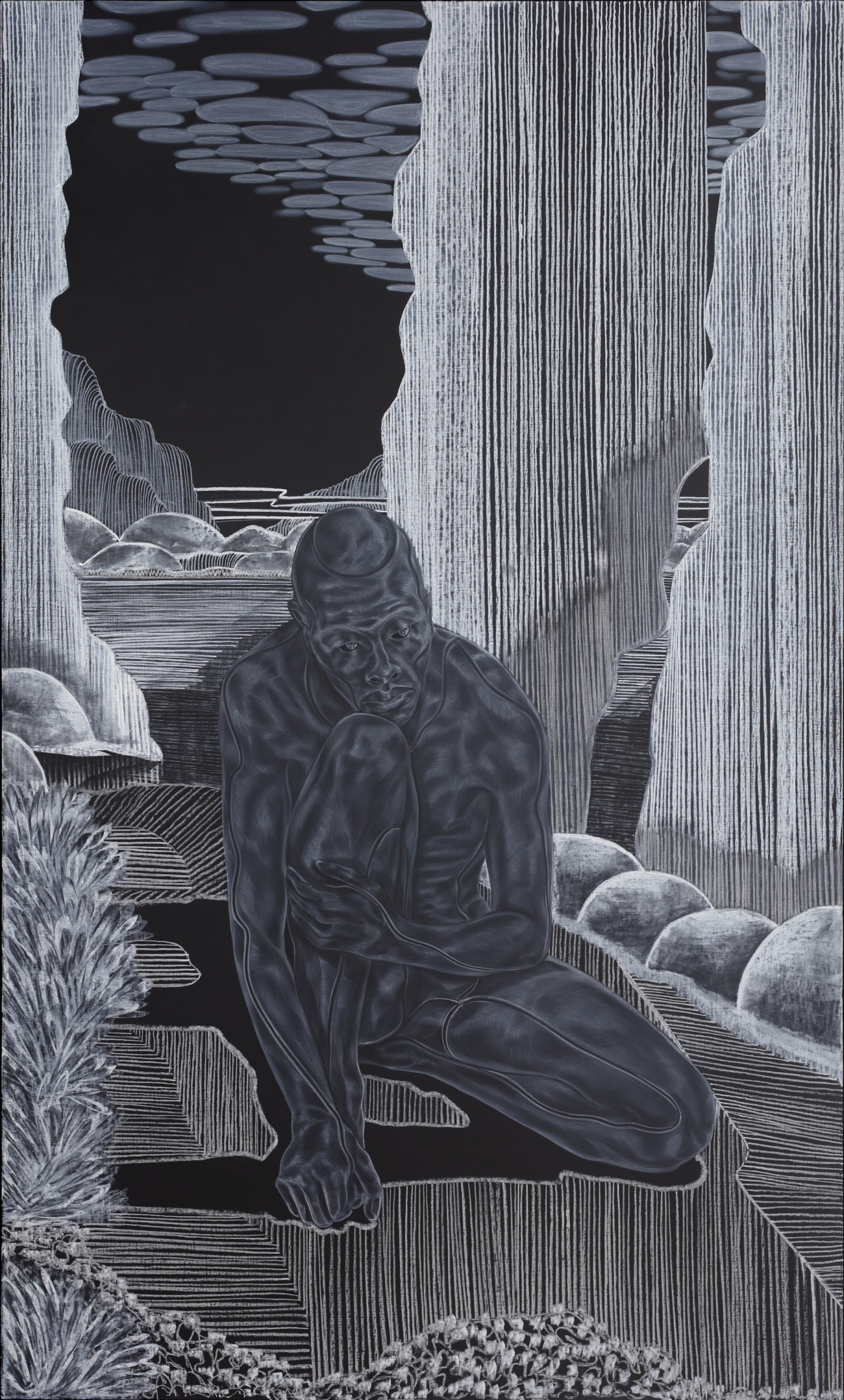 Introductions: Early Embodiment from A Countervailing Theory (2019) © Toyin Ojih Odutola. Courtesy of the artist and Jack Shainman Gallery, New York