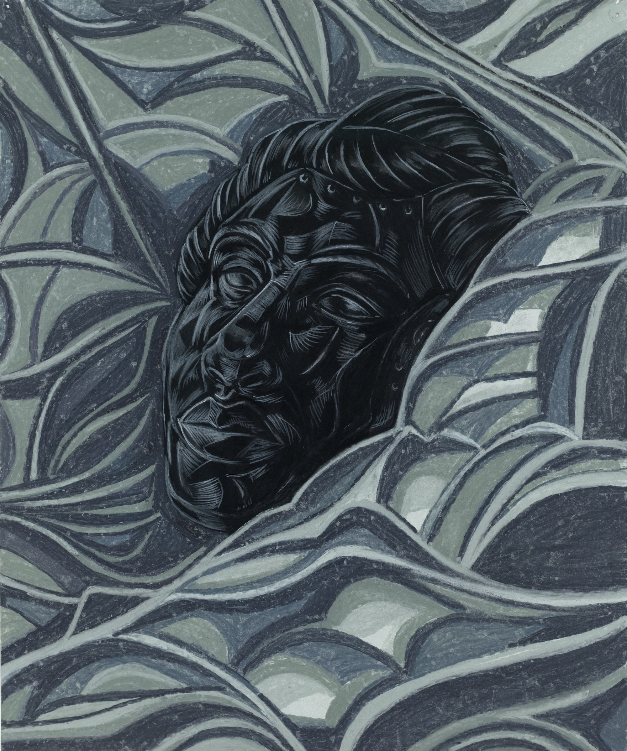 TheUnwrapping (2018) © Toyin Ojih Odutola. Courtesy of the artist and Jack Shainman Gallery, New York