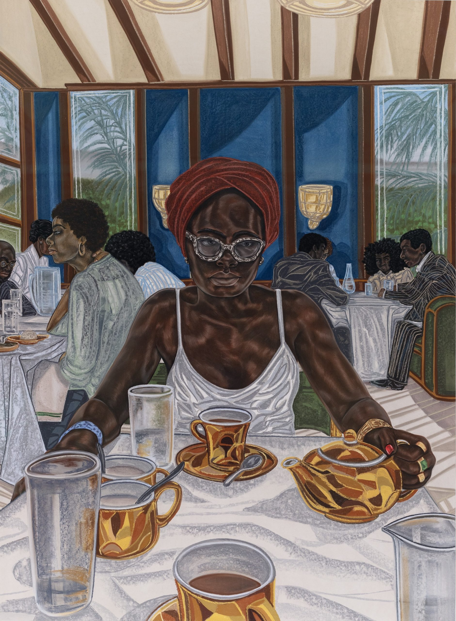 What Her Daughter Sees (2018) © Toyin Ojih Odutola. Courtesy of the artist and Jack Shainman Gallery, New York