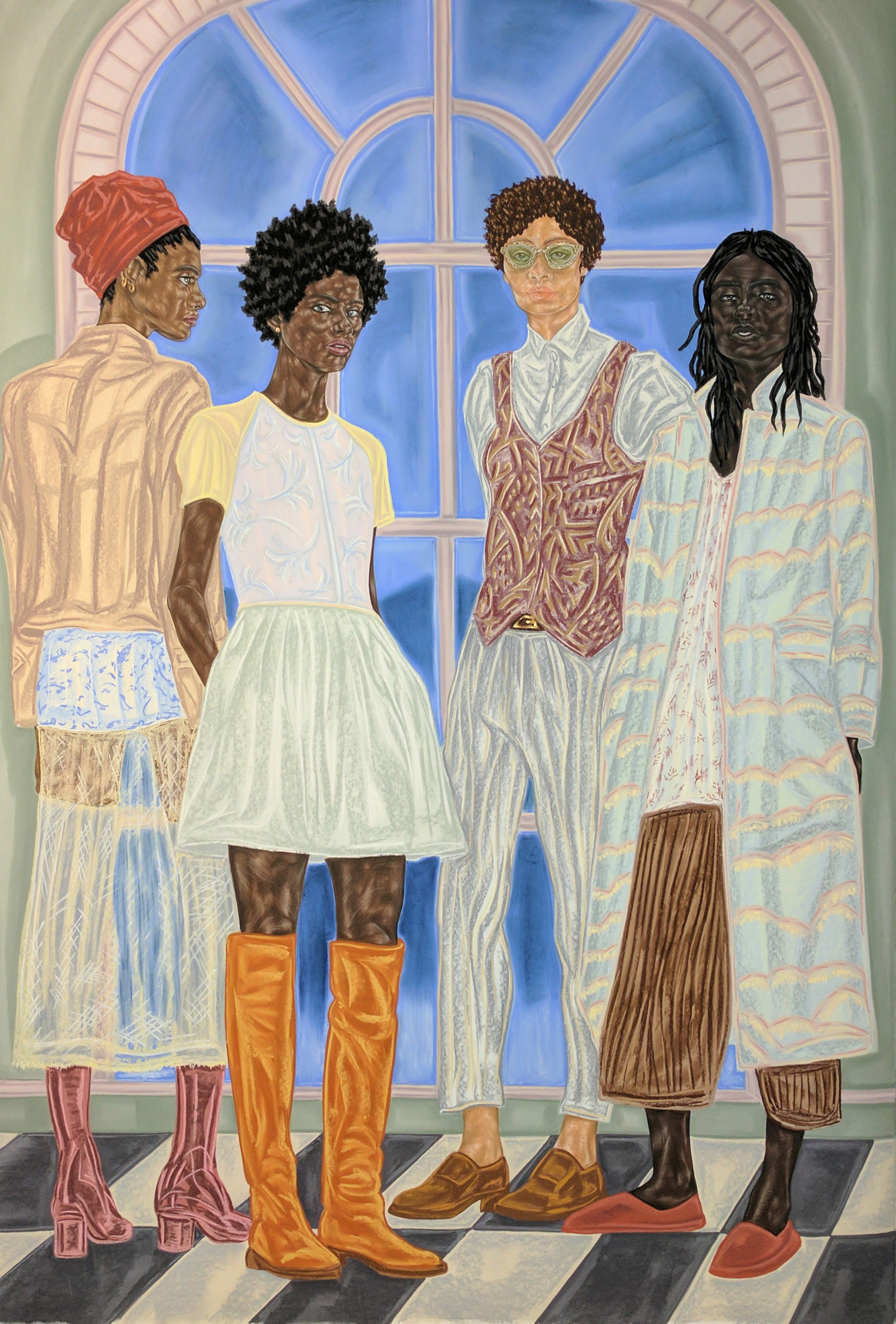Representatives of State (2016-2017) © Toyin Ojih Odutola. Courtesy of the artist and Jack Shainman Gallery, New York