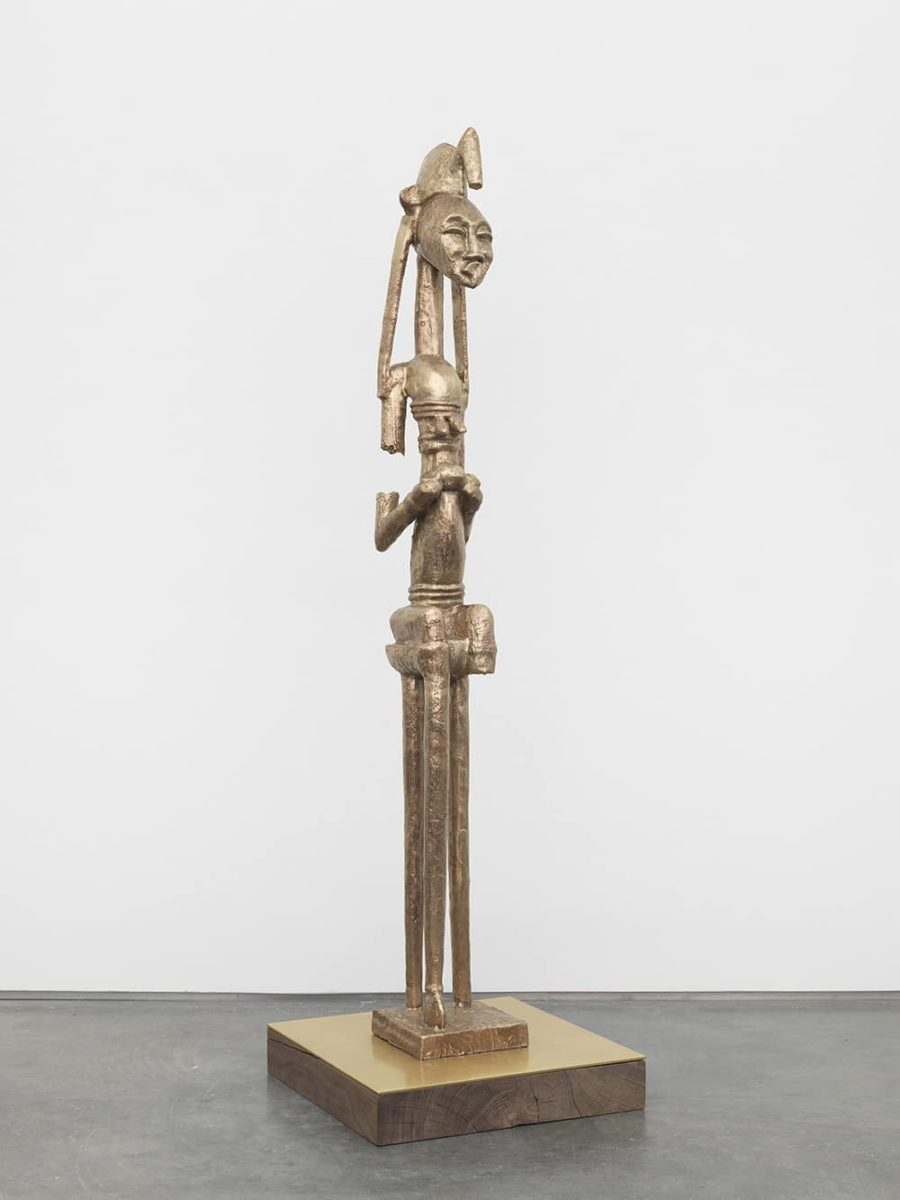 Sanford Biggers, BAM (Seated Warrior), 2017.  Courtesy of the artist and Marianne Boesky Gallery, Aspen and New York