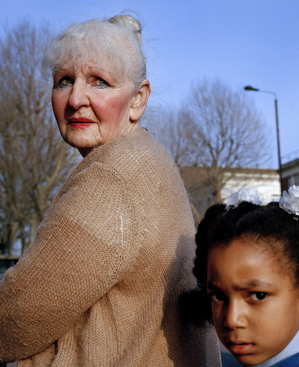 Sam Gregg, Grandmother and Granddaughter, Bethnal Green, 2019