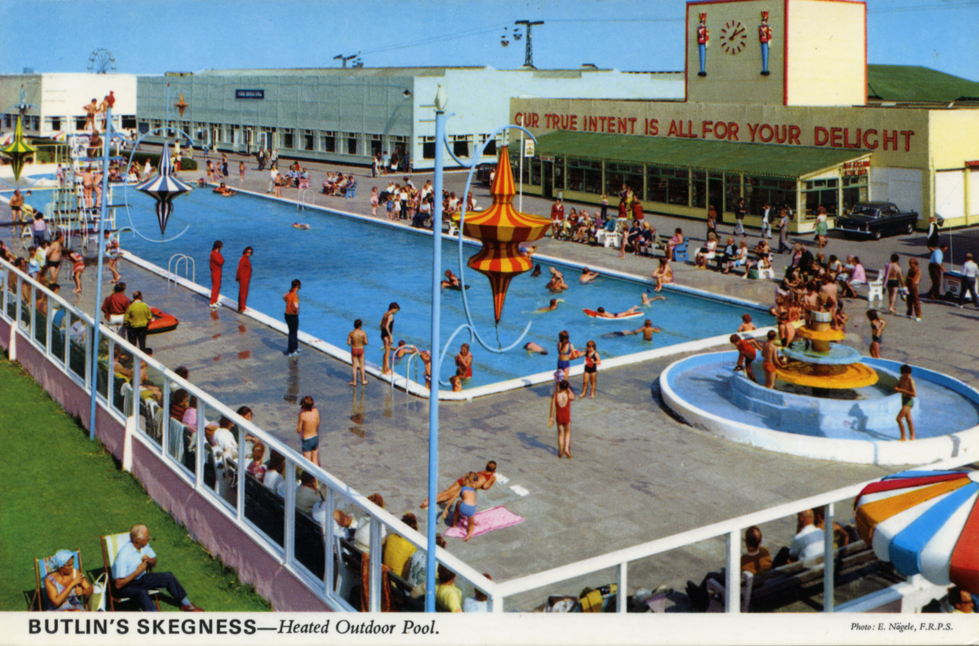 Butlin's Holiday Camp, Skegness, Lincolnshire - Heated Outdoor Pool © The John Hinde Archive / Mary Evans