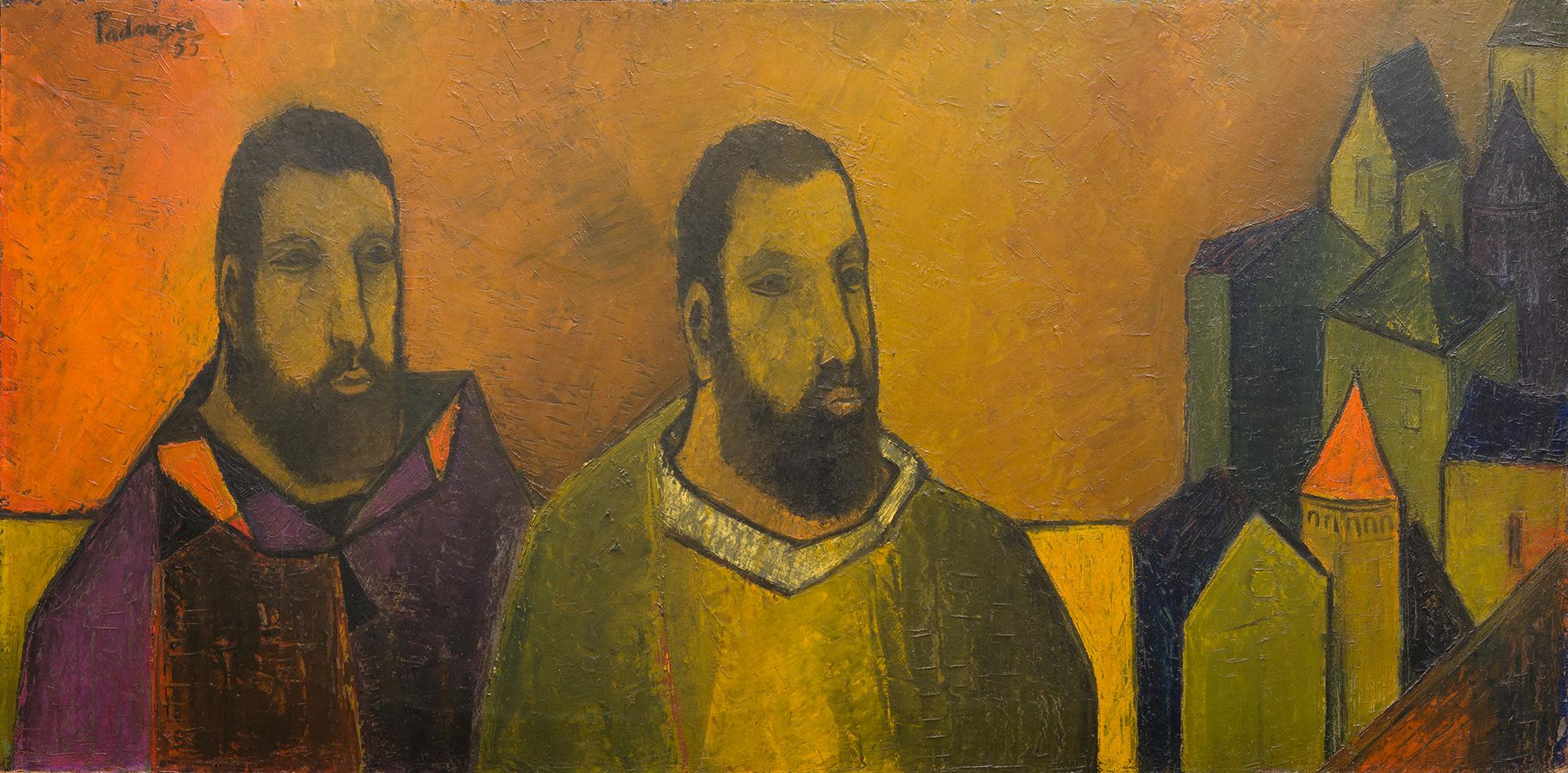 Untitled (Disciples in Landscape), Akbar Padamsee