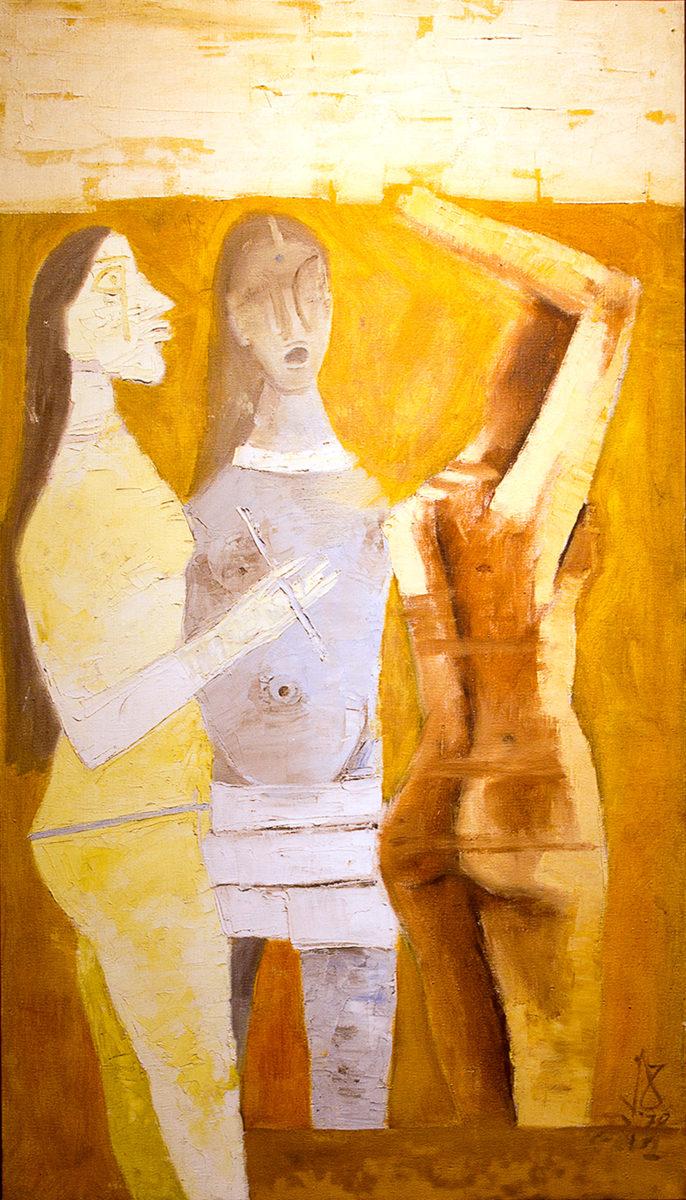 Women in Yellow, MF Husain