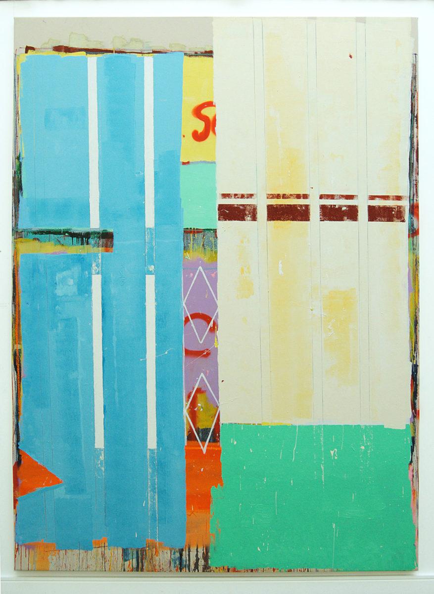 Sunday Morning, 2020. Oil and spray paint on canvas, 275 x 200 cm (1)