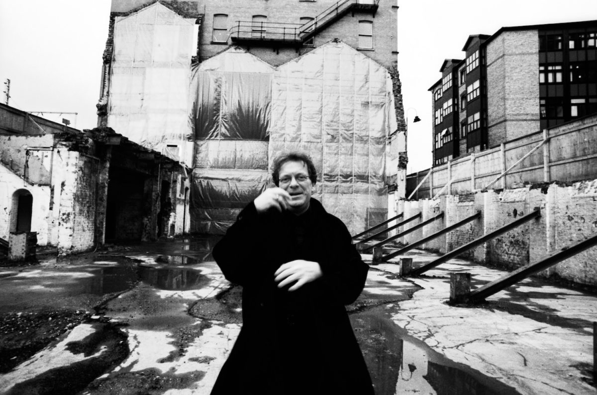 Tony Wilson Where The hacienda once stood