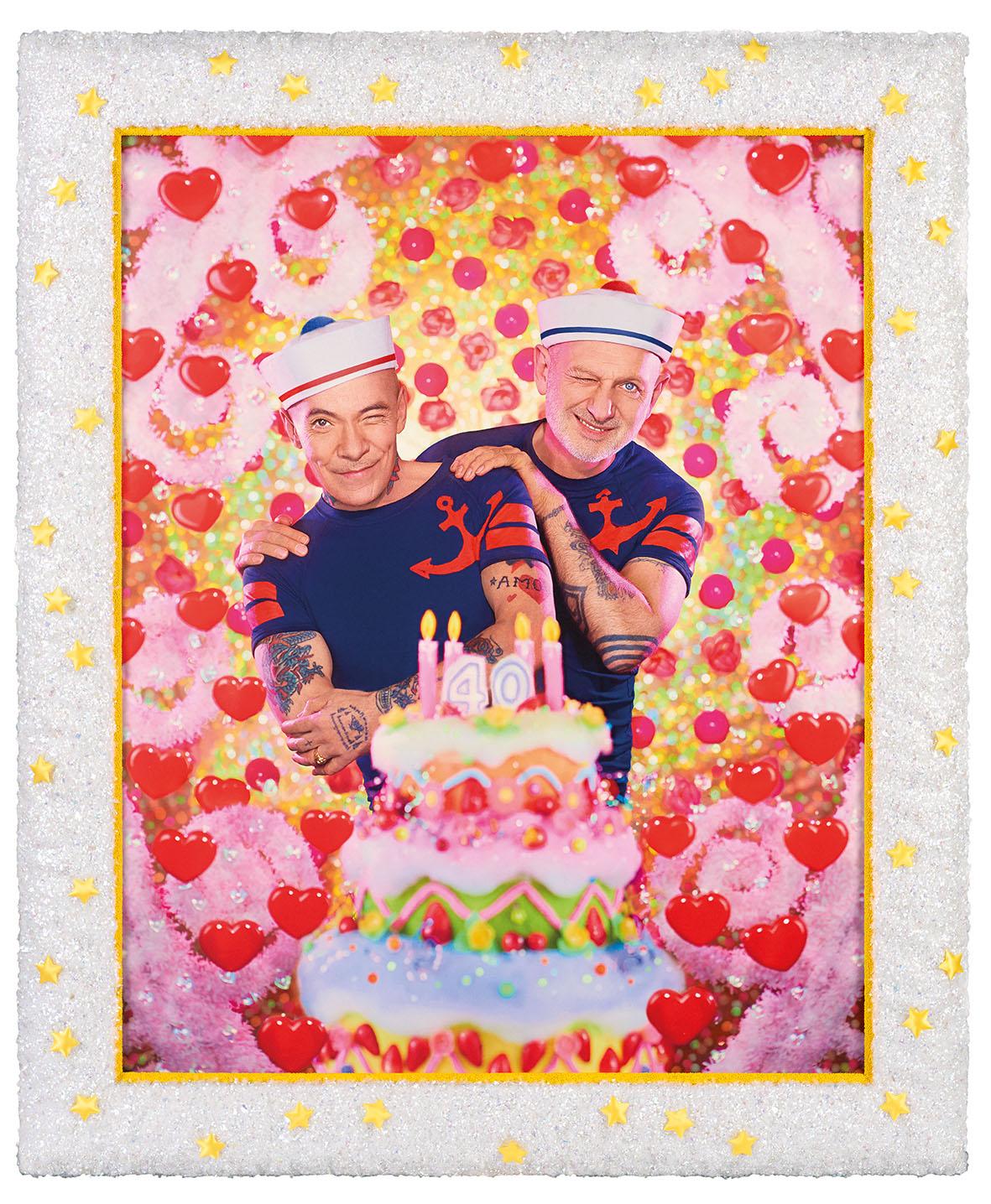 Pierre et Gilles, 40 Ans Avec Cadre, 2016. Courtesy the artists and Galerie Templon