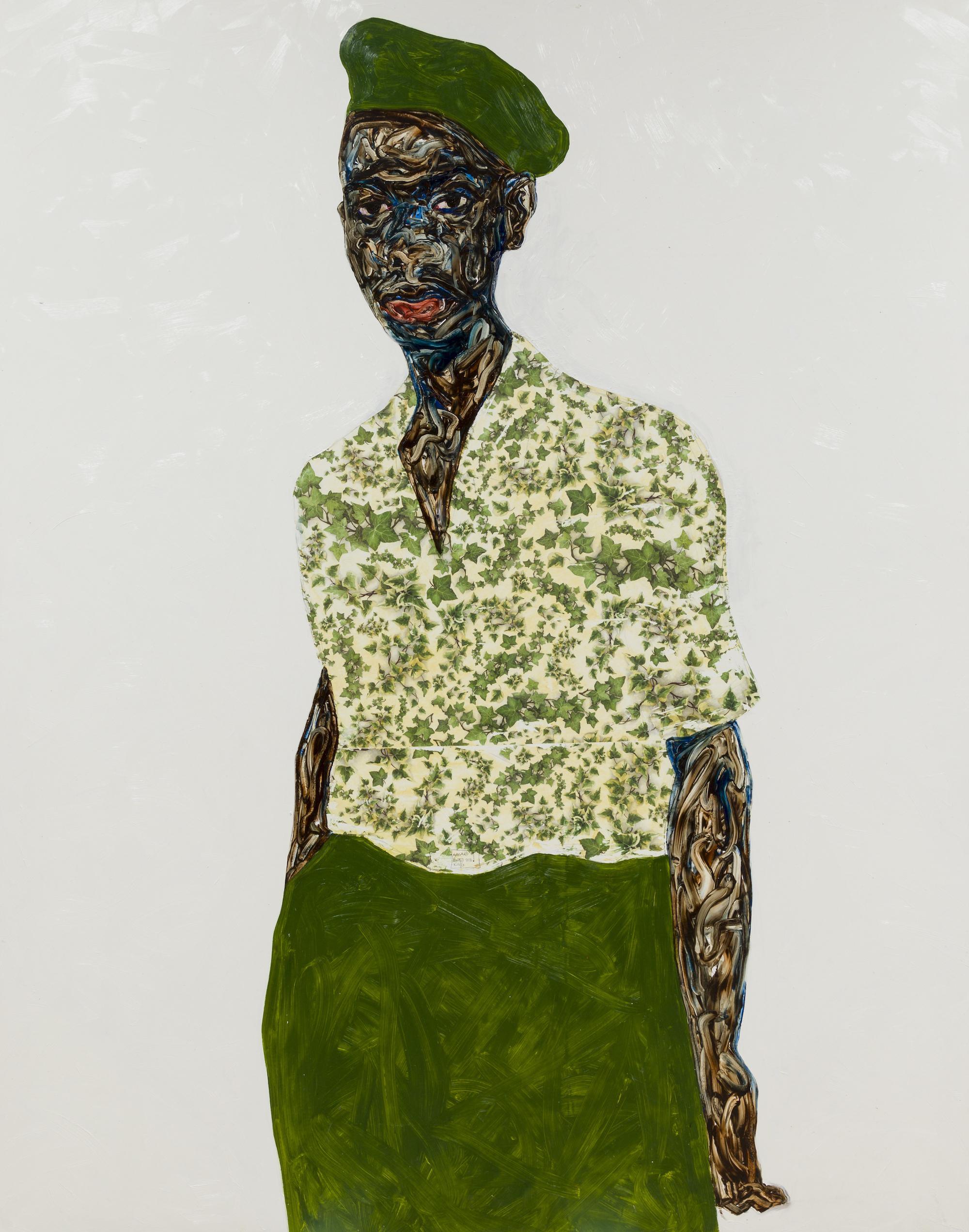 Amoako Boafo, Green Beret, 2020. Courtesy of Mariane Ibrahim
