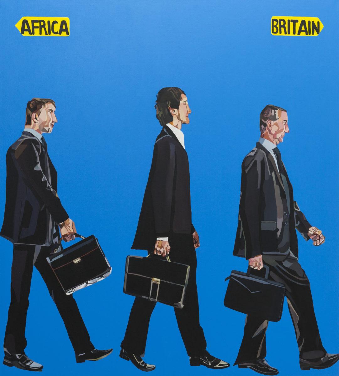 Joy Labinjo Africa-Britain, 2020, oil on canvas, 200 x 180 cm