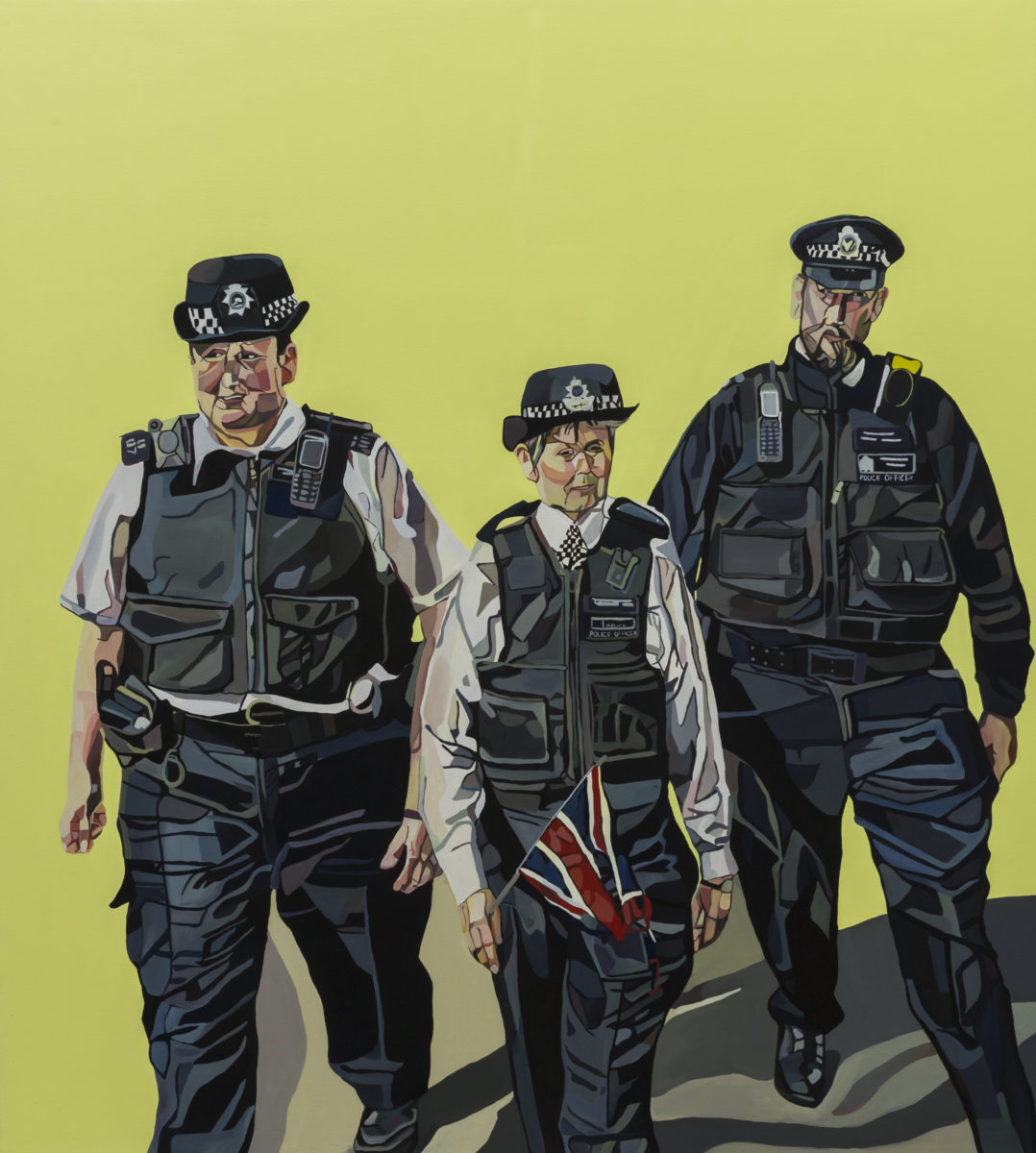 Joy Labinjo The Real Thugs of Britain, 2020, oil on canvas, 200 x 180 cm