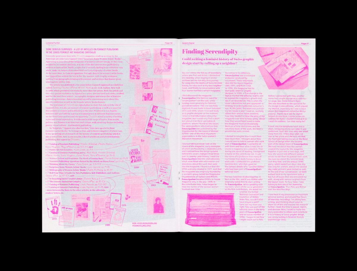 Feminist Findings zine, from  L.i.P. Collective