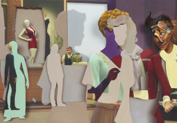 Shifted Sims #7 (Fashionista Career), 2020. All images courtesy the artist and Petzel, New York