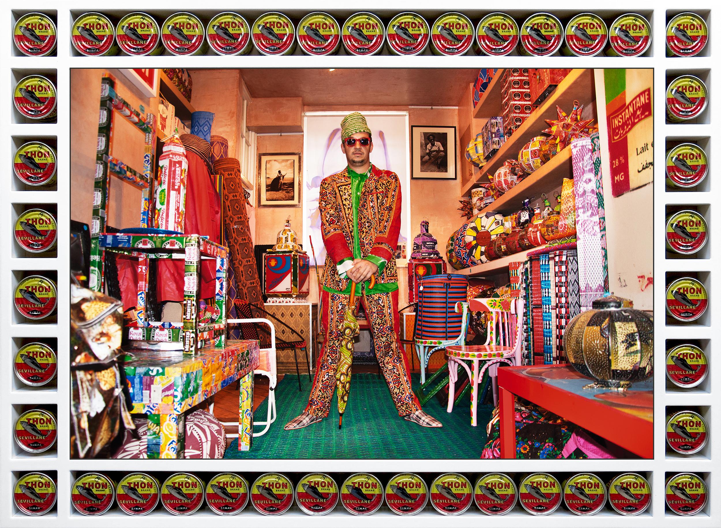 Hassan Hajjaj, Younes in Da Shop, 2012/1433. Courtesy of the Artist and L'Atelier 21, Casablanca, Morocco. courtesy