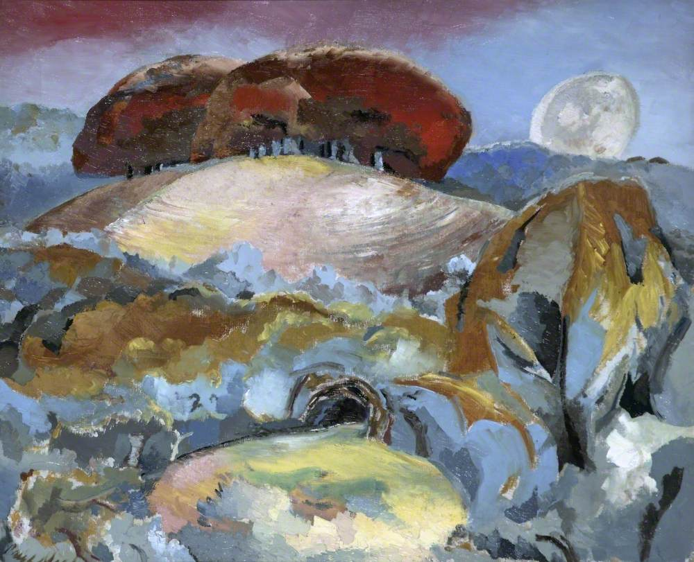 Paul Nash, Landscape of the Moon's Last Phase, 1944. Collection of the Walker Art Gallery