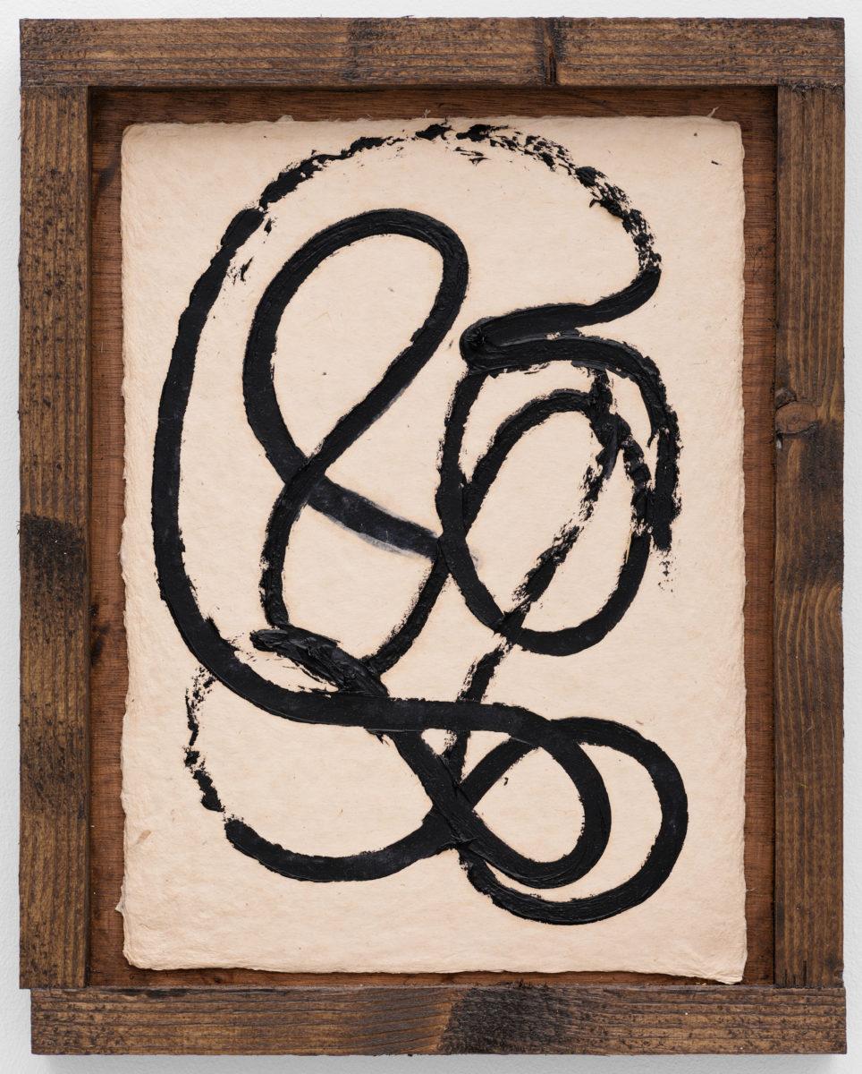 Alvaro Barrington, 2020, mixed media on burlap paper in custom frame. All images © Alvaro Barrington, Courtesy Galerie Thaddaeus Ropac, London • Paris • Salzburg. Photo credit Eva Herzog