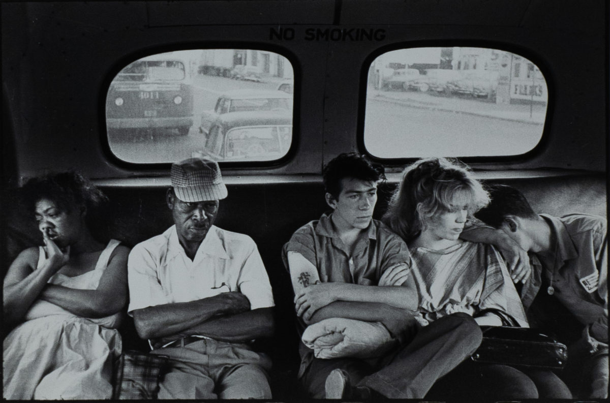 On the Bus, from Brooklyn Gang, 1959. Courtesy Queens Museum © Bruce Davidson/Magnum Photos.