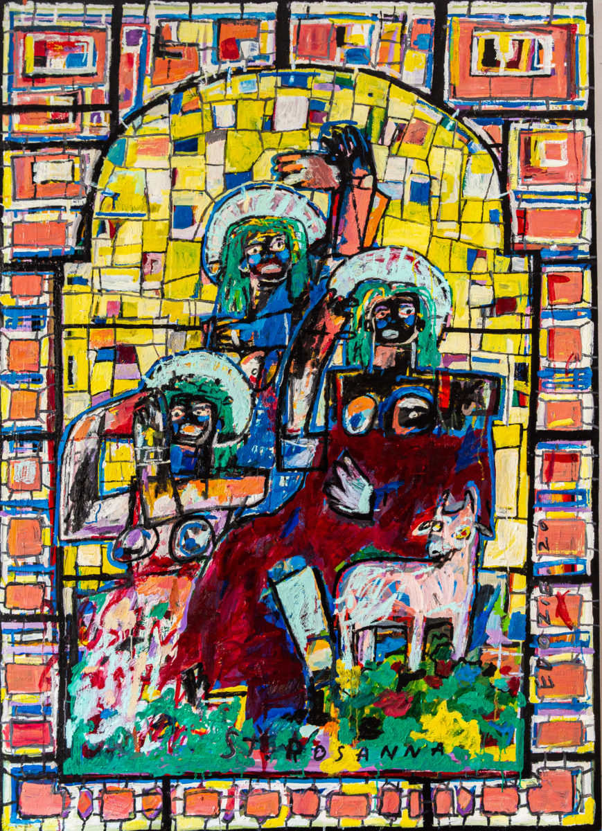 Edozie Anedu, Adoration of St. Rosanna (from the Mind the Glass series), 2020. Courtesy the artist