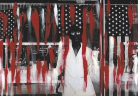 Ming Smith, America Seen through Stars and Stripes (Painted), New York, 1976, from Ming Smith: An Aperture Monograph (Aperture/Documentary Arts, 2020) © Ming Smith, courtesy the artist and Aperture