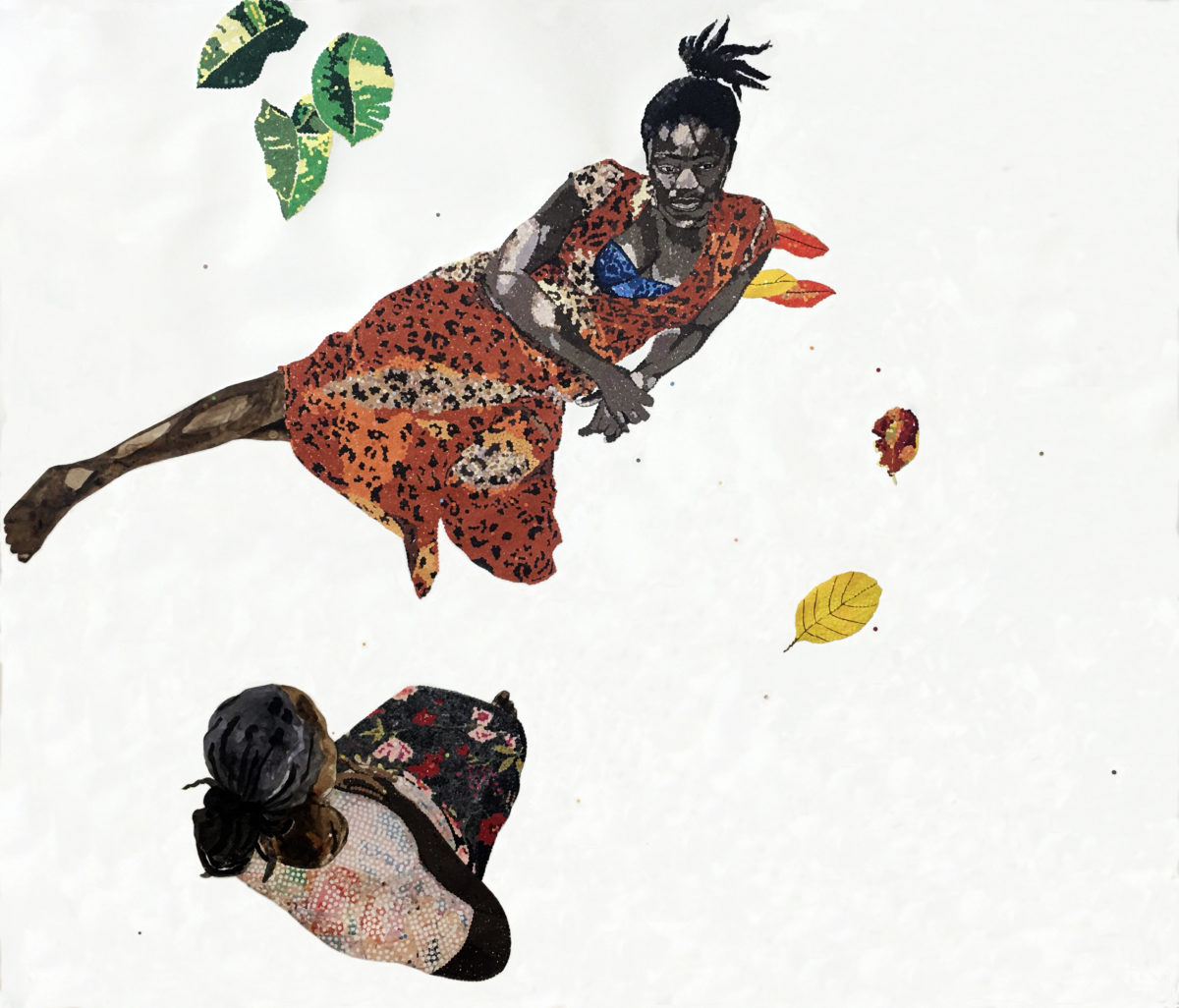 Ngozi Schommers, In and out of morphine, hallucinations and dead leaves, 2020. Courtesy the artist