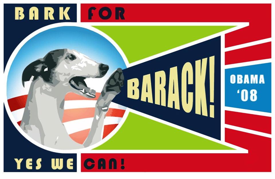 Bark for Barack poster design, 2008