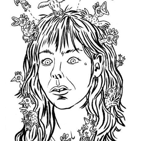 Lisa Hanawalt, self-portrait