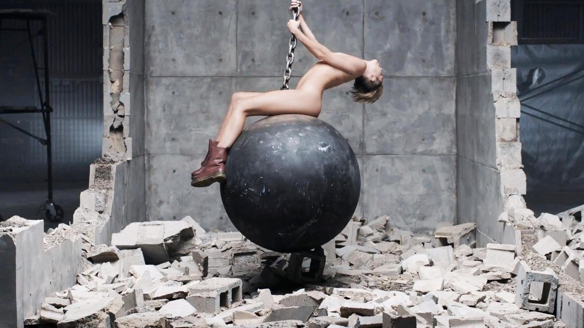 Miley Cyrus in Wrecking Ball, directed by Terry Richardson, 2013