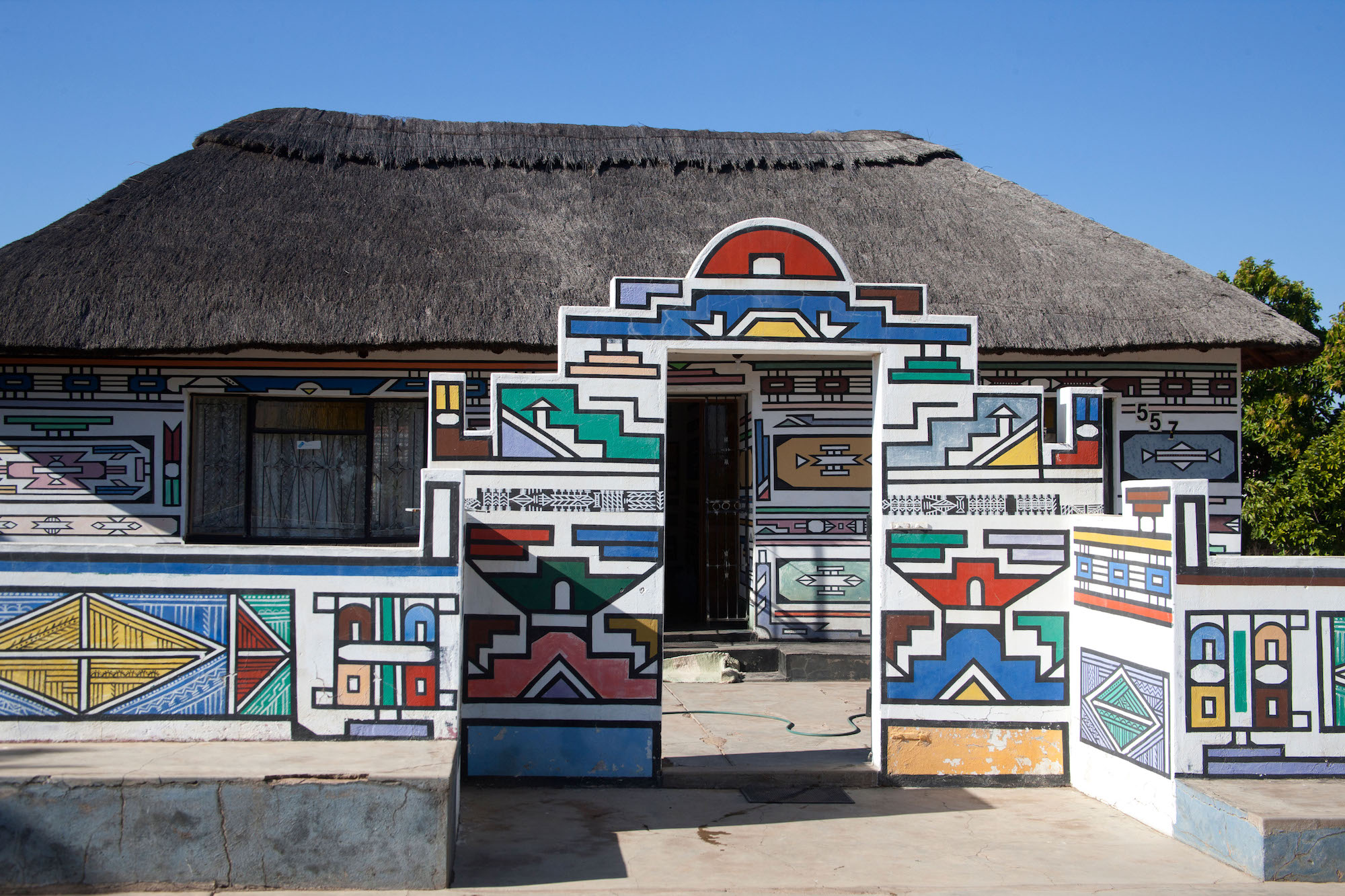 Decorated Ndebele House, Welterwrede, South Africa, 2010