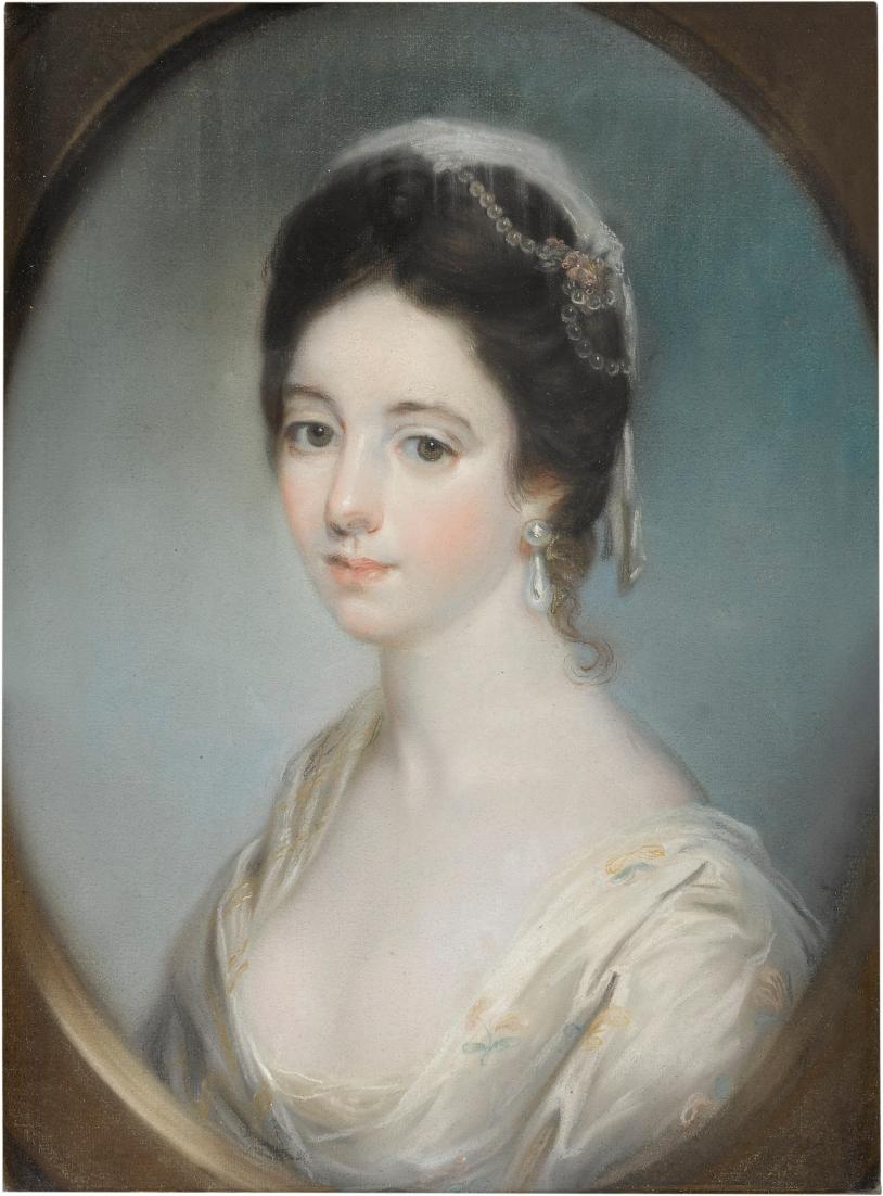Katherine Read, Portrait of a woman (probably Anne Champion de Crespigny), 1723-1778. Courtesy of the artist and GAVLAK Los Angeles / Palm Beach