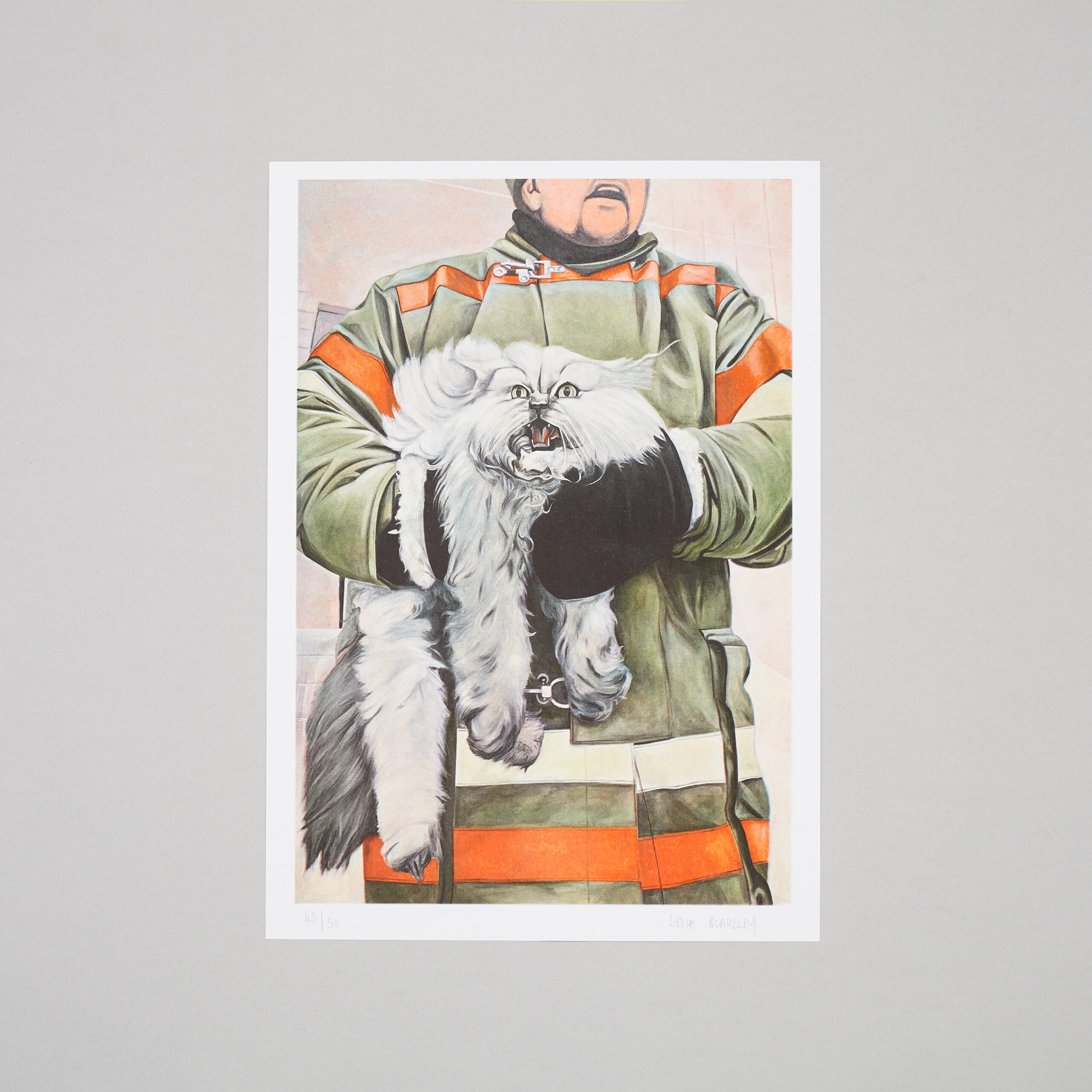 Elephant cover artist Lydia Blakeley, signed and limited edition print for Kiosk