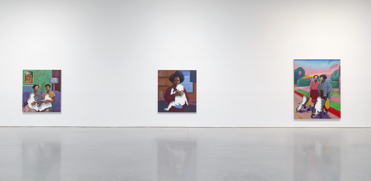From a Tropical Space (instal), 2020. © Titus Kaphar. Photo: Rob McKeever. Courtesy Gagosian