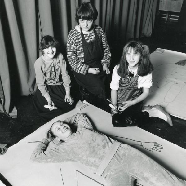 Jo Stockham, Artists in Schools, residency at John Scurr Junior, 1987, Whitechapel Gallery. Whitechapel Gallery Archive.