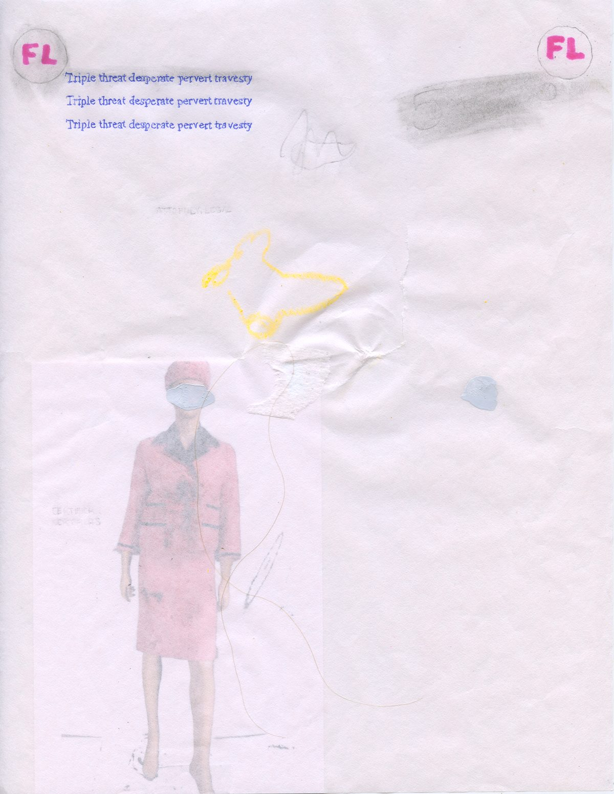 Jordan Strafer, drawing for No Bag