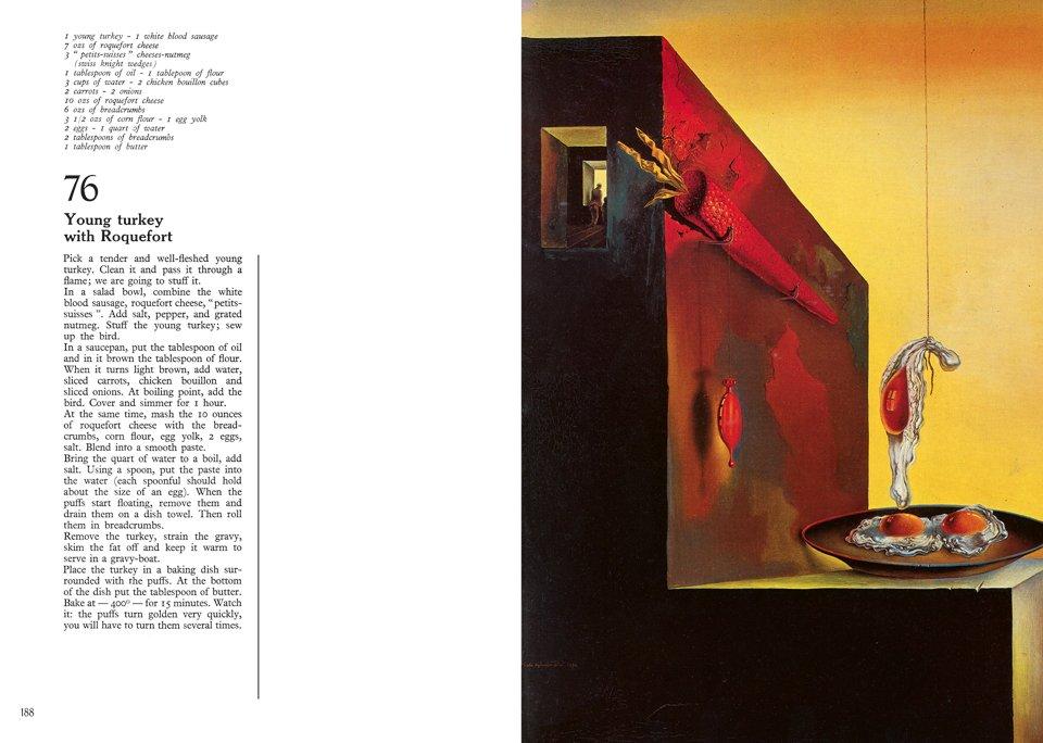 Salvador Dalí, Les Dîners de Gala, 1973 (reprinted 2016). Courtesy Taschen