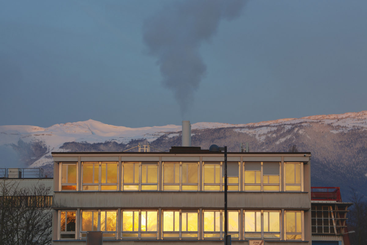Exterior at Cern photographed by Miguel Santa Clara for Elephant