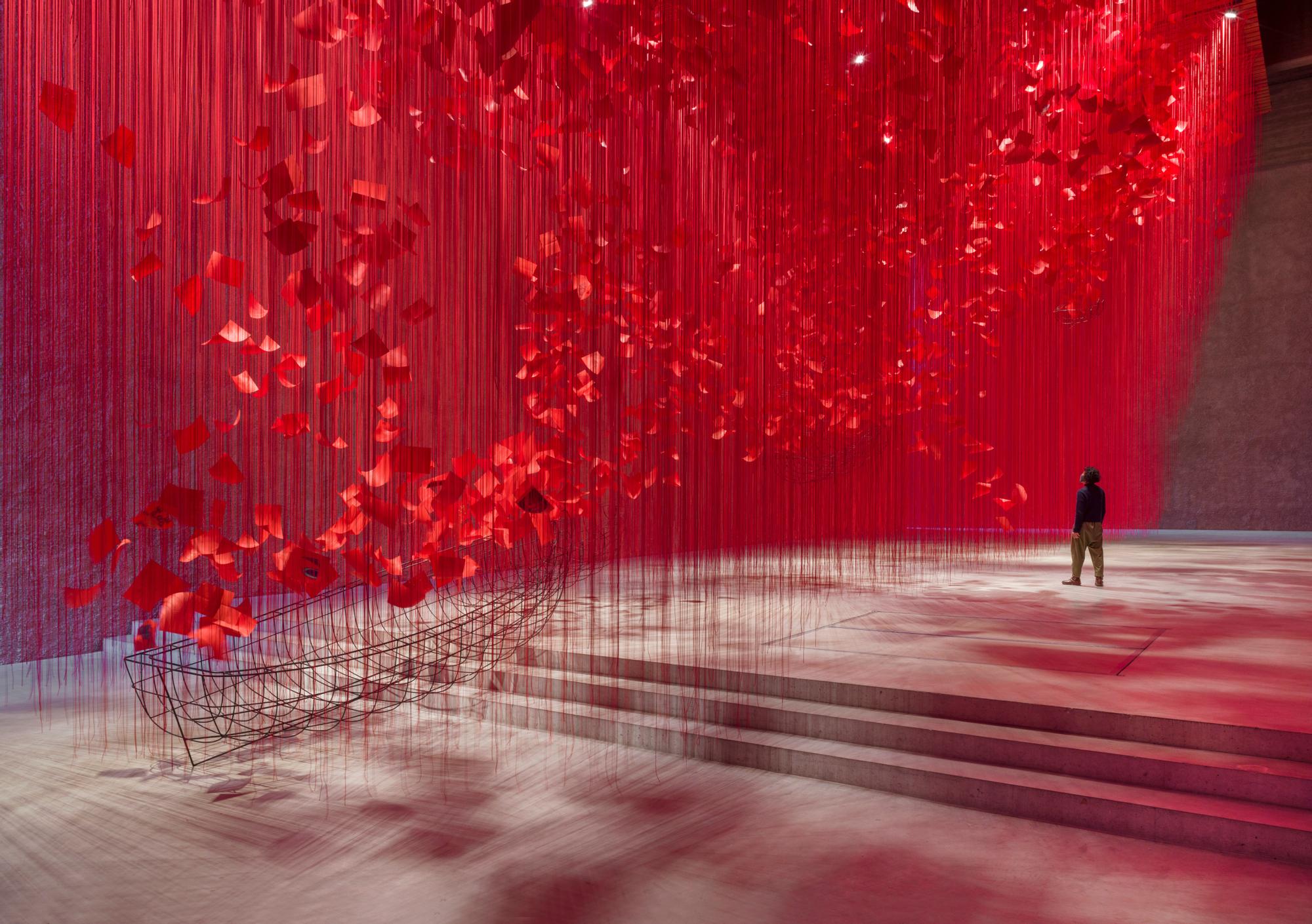 Chiharu Shiota's new installation at König Galerie