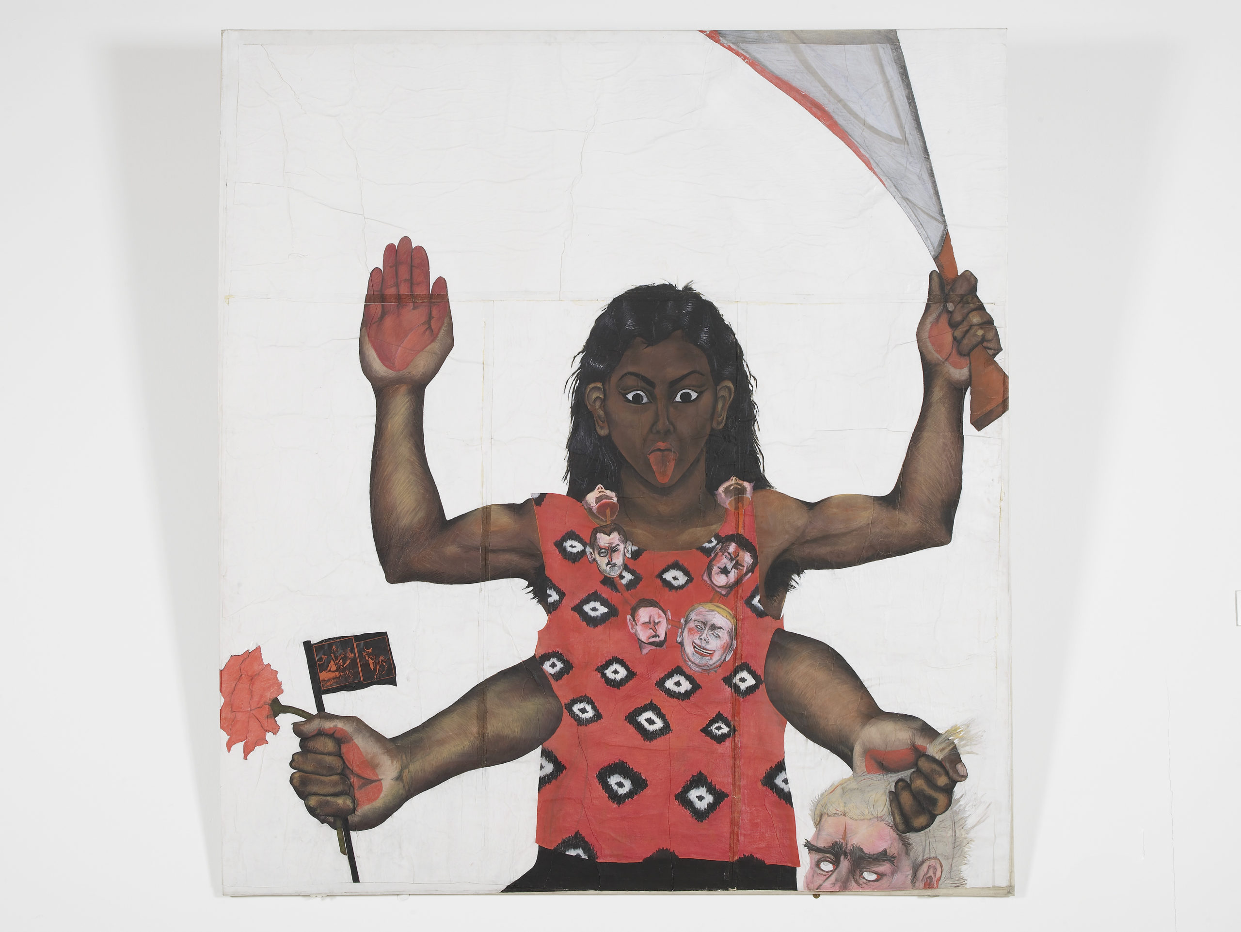 Sutapa Biswas, Housewives with Steak-knives, 1984-85. © Sutapa Biswas. All rights reserved, DACS/Artimage 2020. Photo by Andy Keate