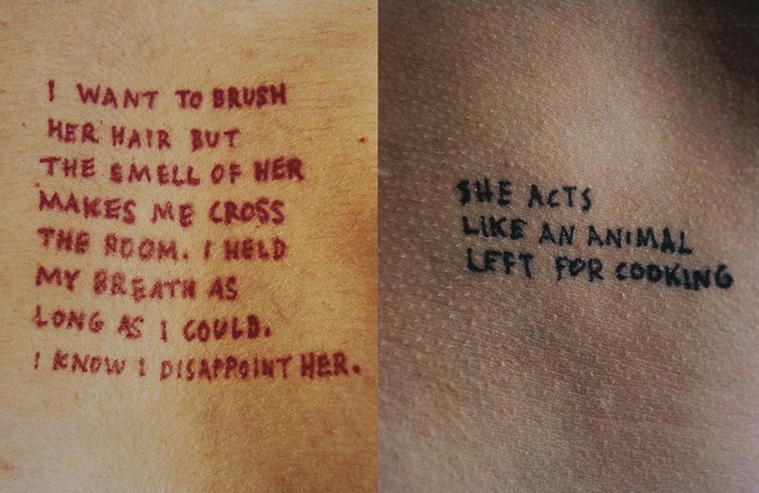 Jenny Holzer, Lustmord, 1993-1994, ink on skin