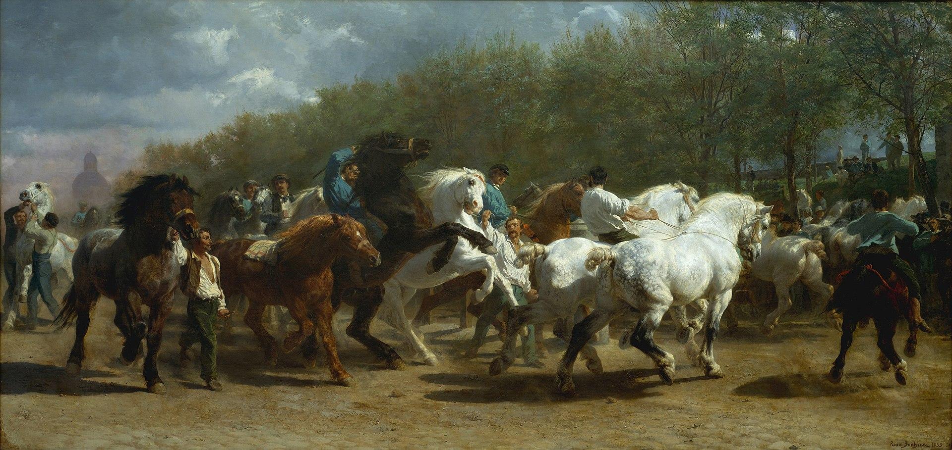 Rosa Bonheur, The Horse Fair, 1852-55 © Metropolitan Museum of Art / Wikimedia Commons