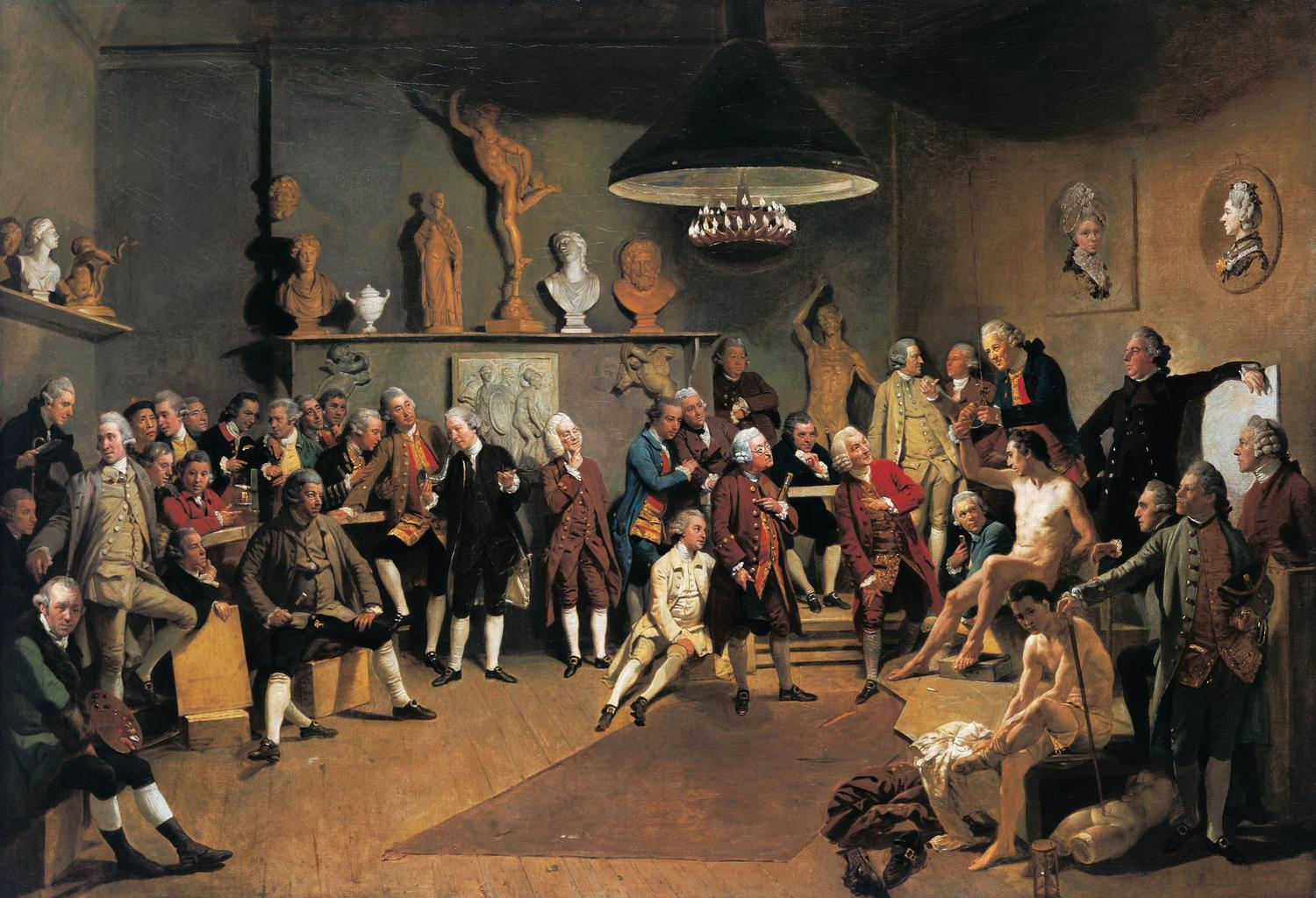 Johann Zoffany, The Academicians of the Royal Academy, 1771–72 © The Royal Collection / Wikimedia Commons