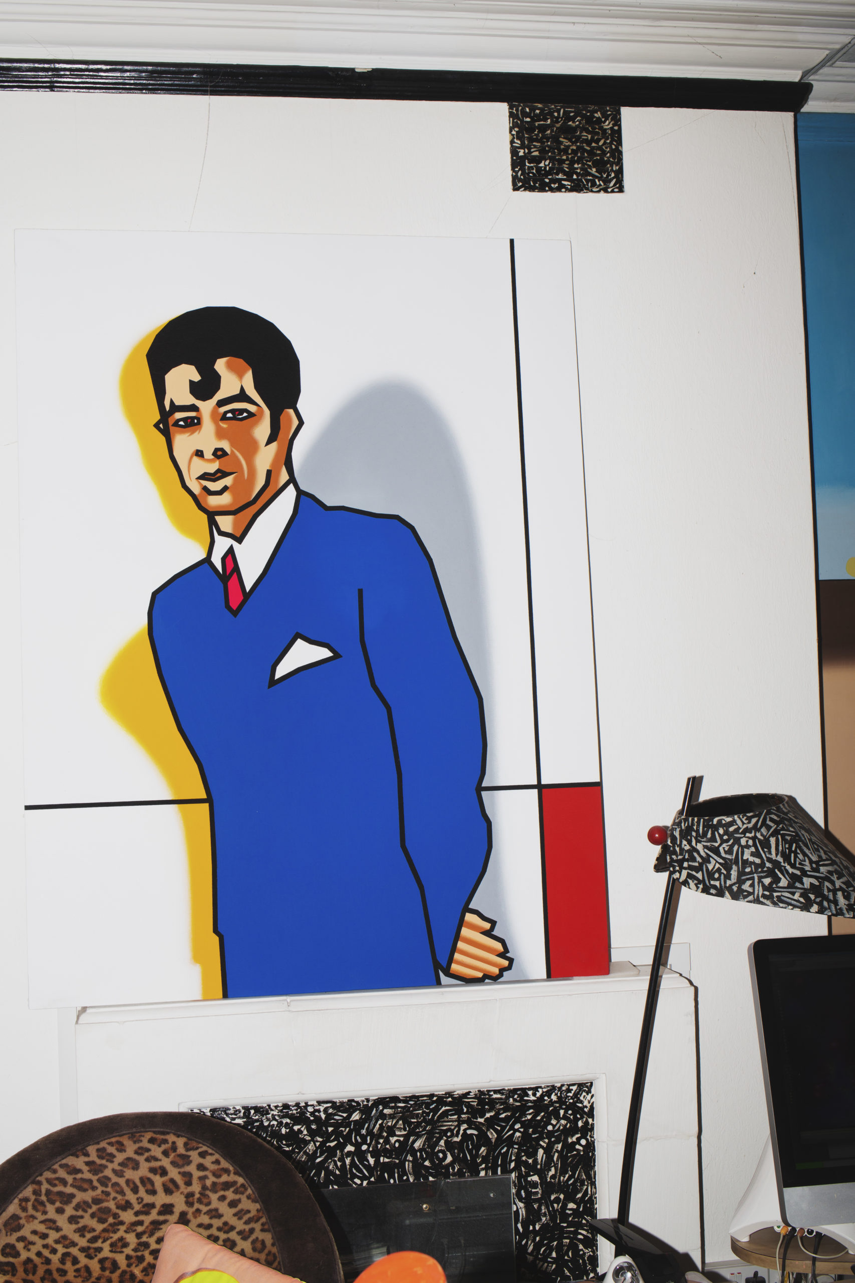 A painting by Duggie Fields in his West London home, photographed by Louise Benson for Elephant